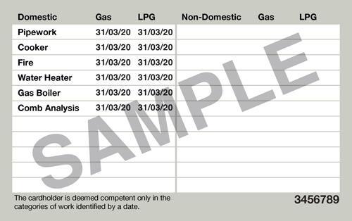 gas safe ID back