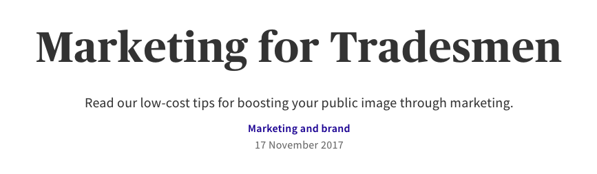 A Guide to Marketing for Tradespeople