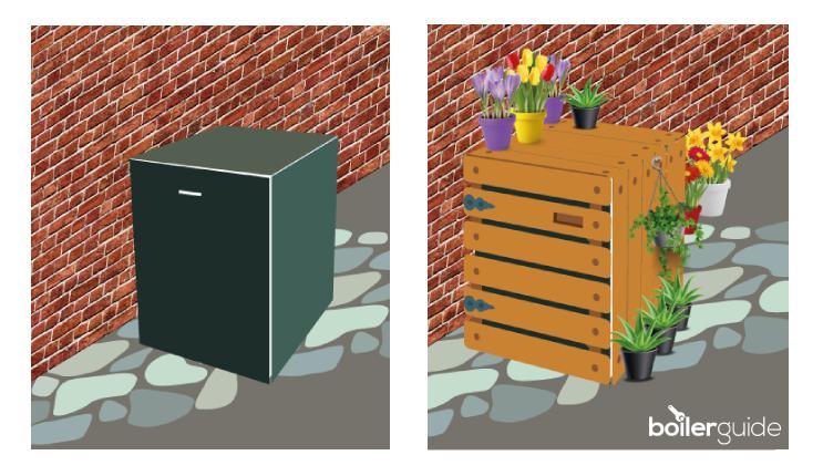 How to hide an external oil boiler