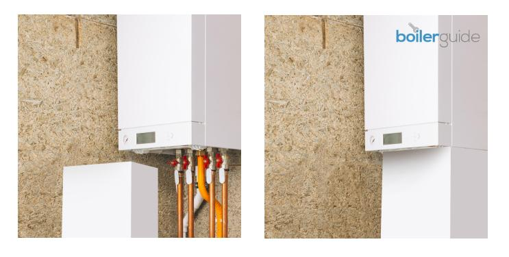 How to hide boiler pipes