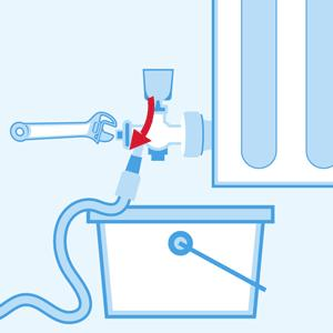 Tighten the valves after draining the combi boiler