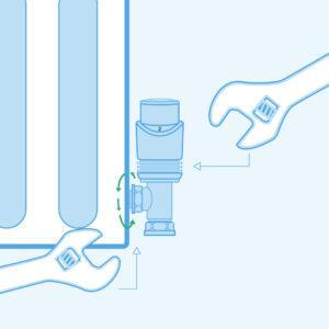 Remove the old radiator control valve