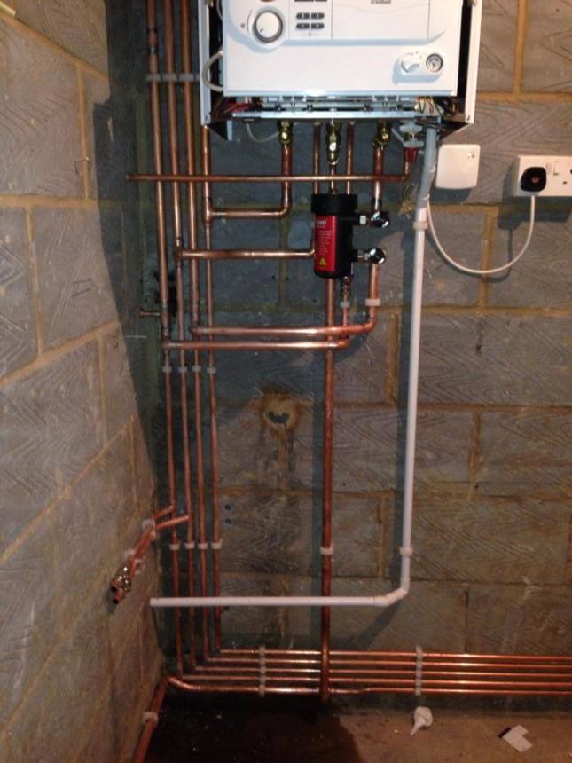 Vaillant combination boiler install