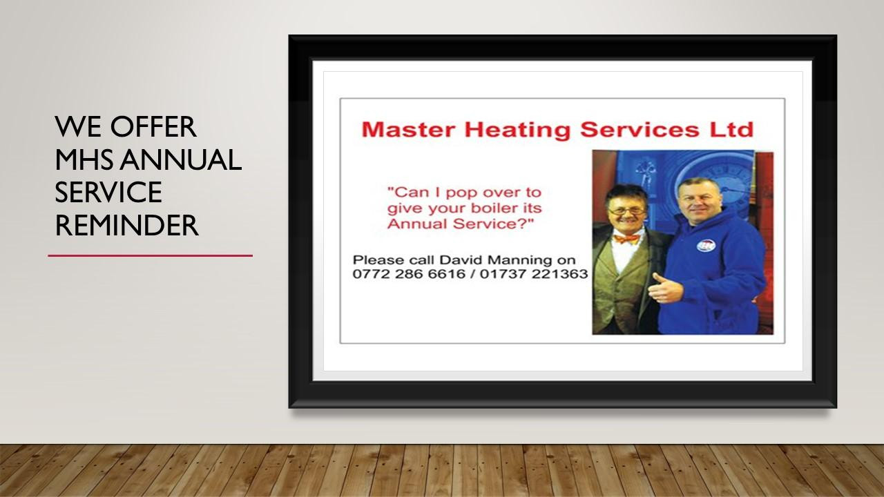 We offer yearly service plan