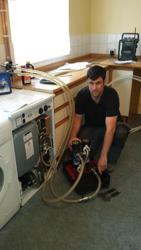 Oil boiler installation