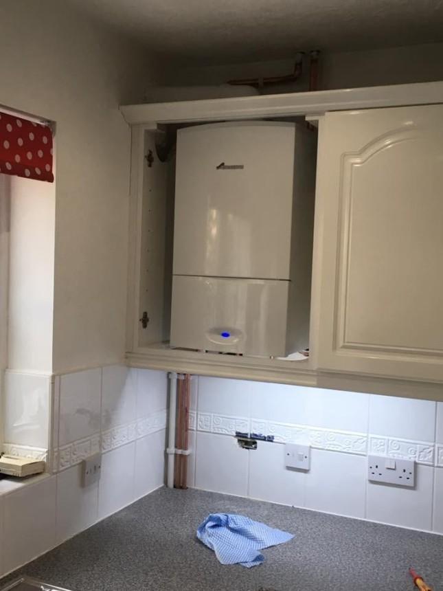 Worcester Combinin kitchen cupboard. Exmouth, Devon.