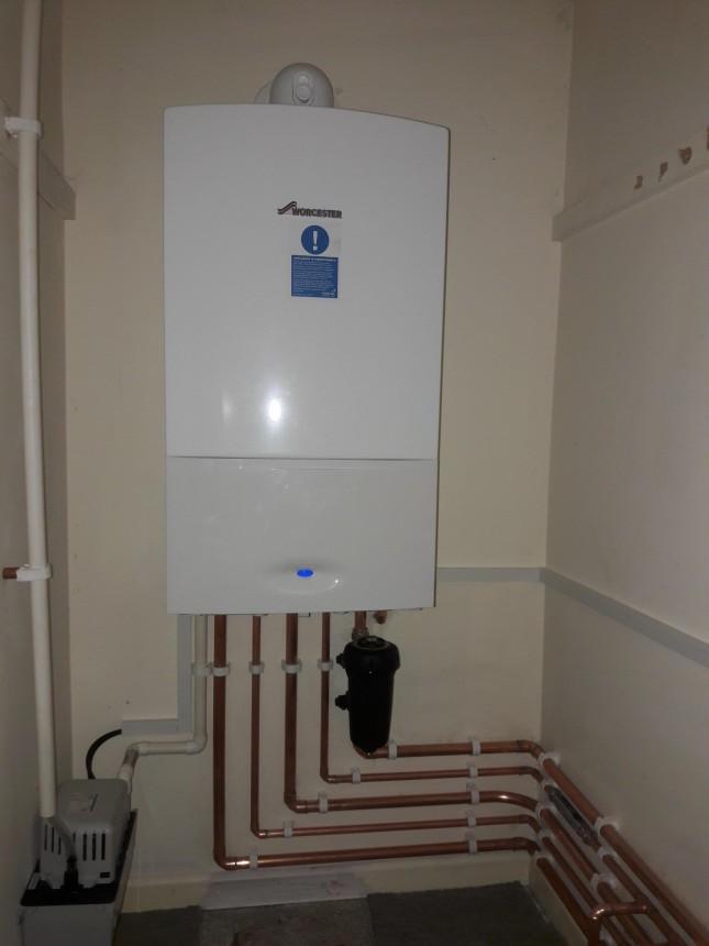 Combination boiler installation.