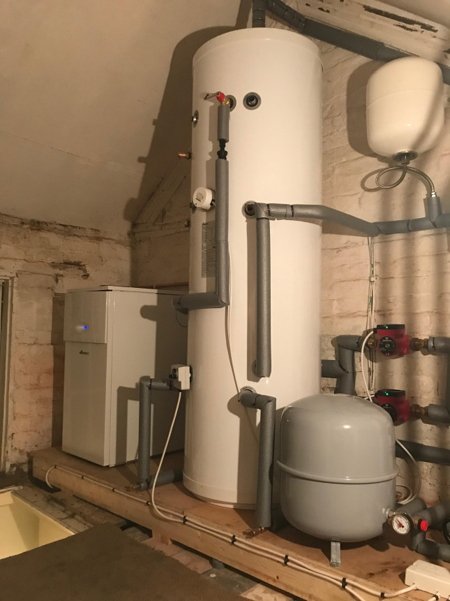 Floor mounted Boiler and pressurised Hot water cylinder fitted in Tenbury wells