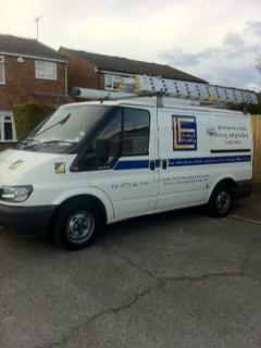 LF Heating boiler installation van covering Hertfordshire