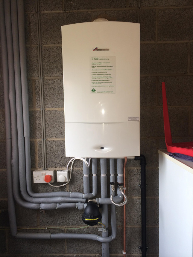 New Worcester gas condensing boiler