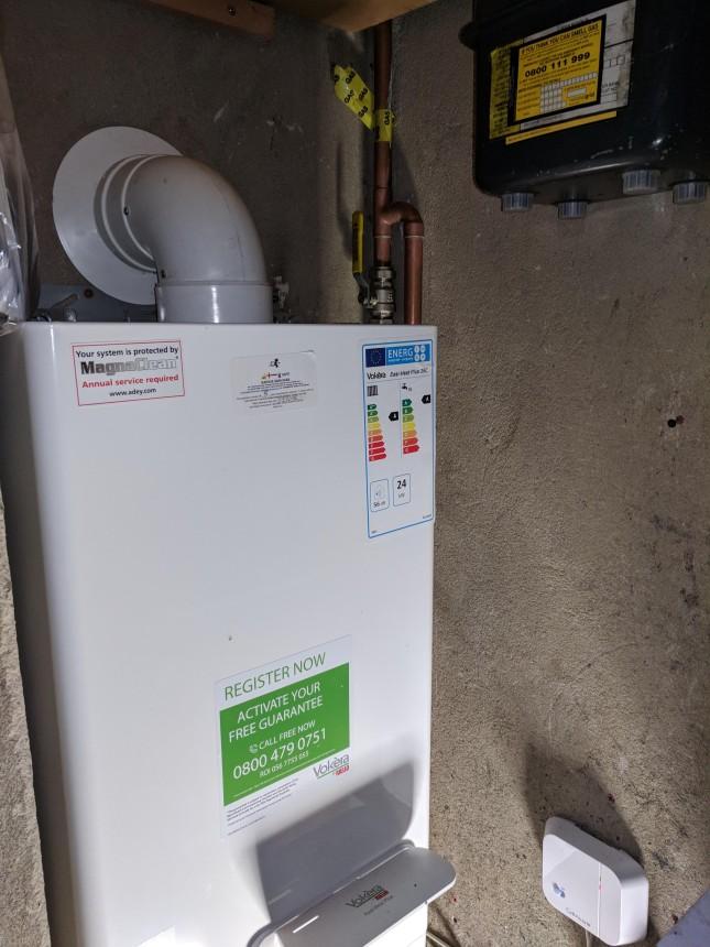 Installation of a vokera boiler