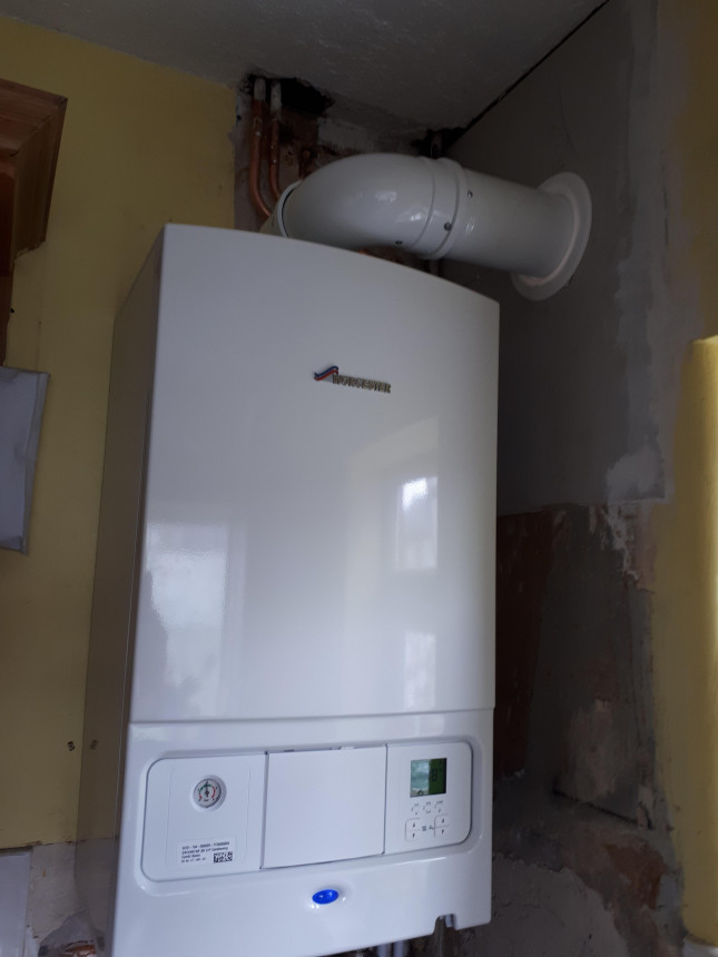 New system boiler to Worcester combi boiler conversion