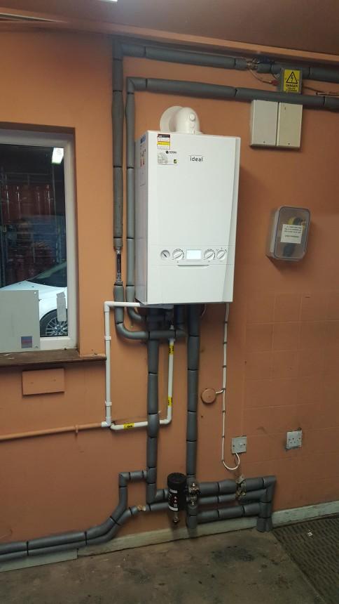 Ideal Logic Plus combination boiler installation
