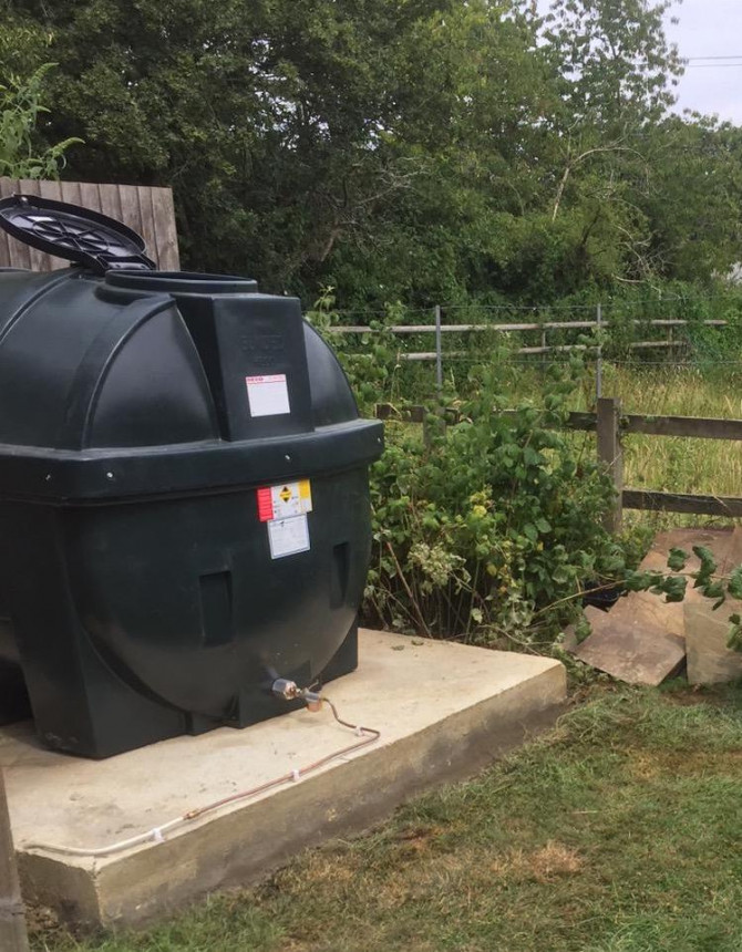 A new oil tank fitted to meet regulations