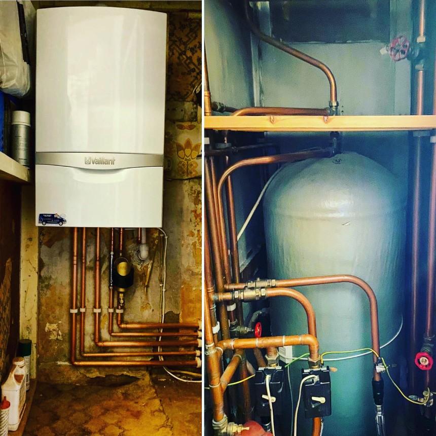 Vaillant combination boiler installation