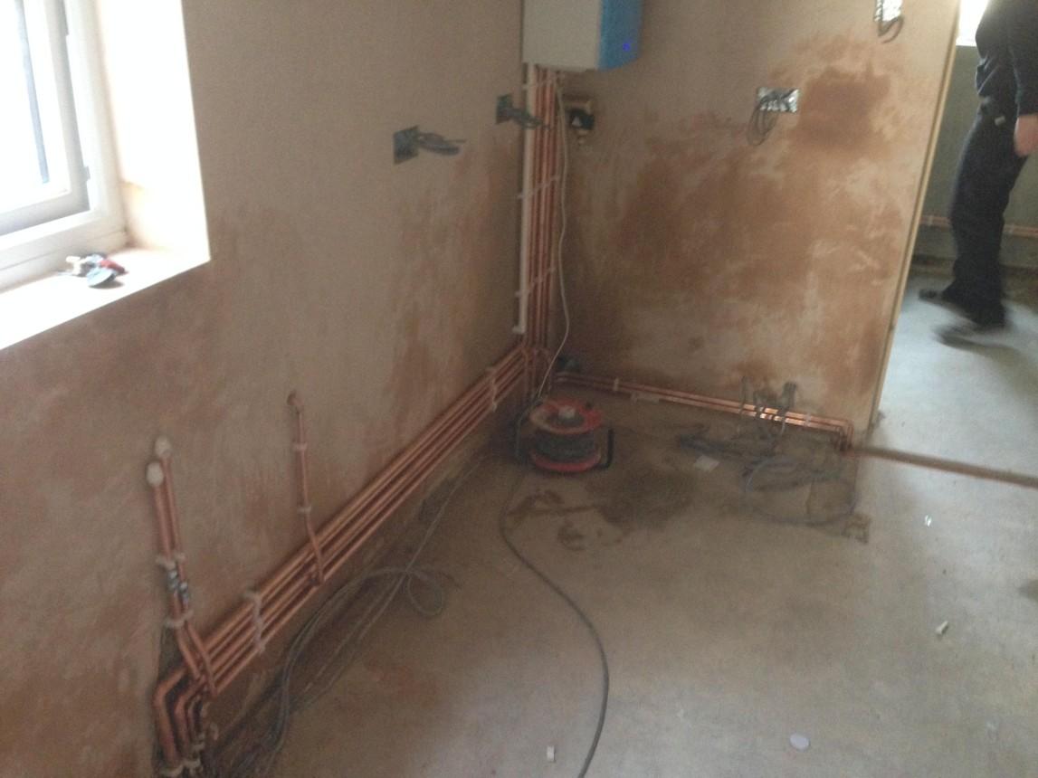 Pipe work installed by HEH engineer - Romford 2 of 3