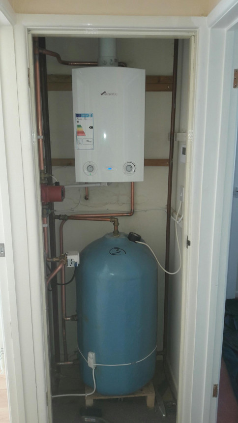 New boiler, cylinder and upgrade of system to fully pumped