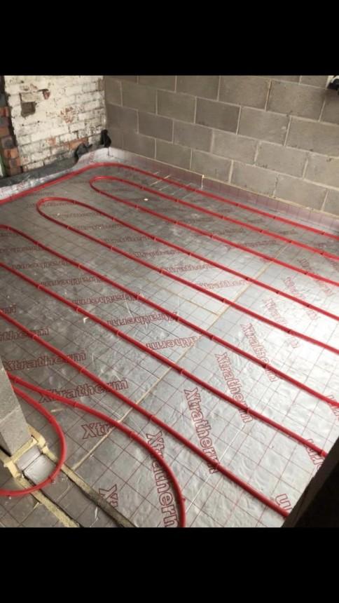 Underfloor heating installation