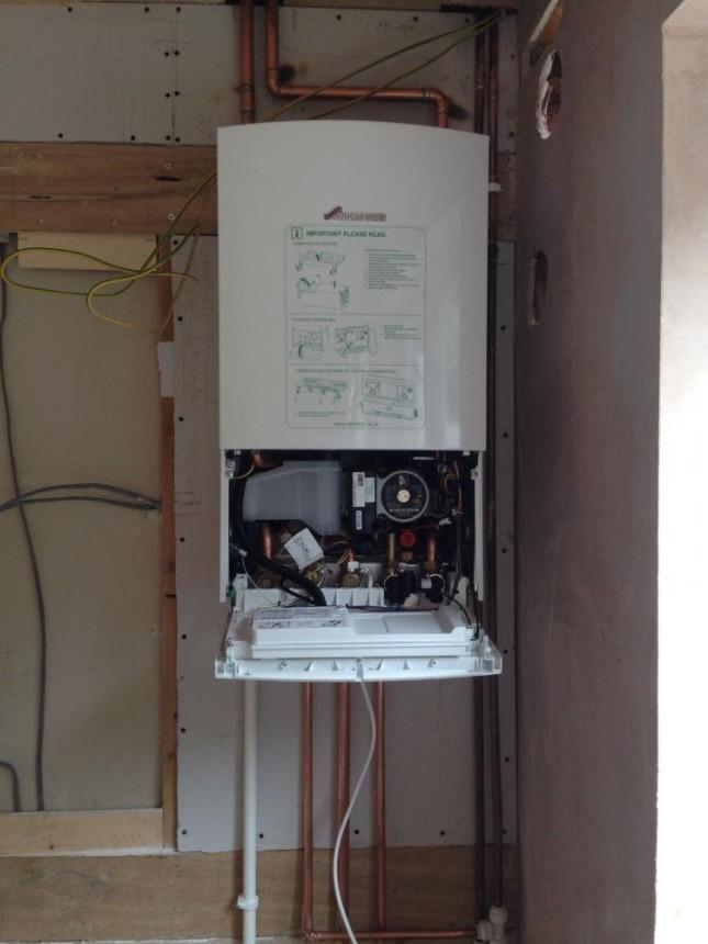 Conventional boiler to combi boiler.