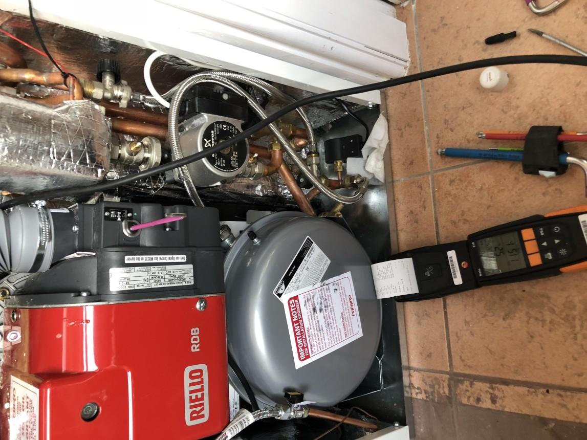 Oil boiler commission