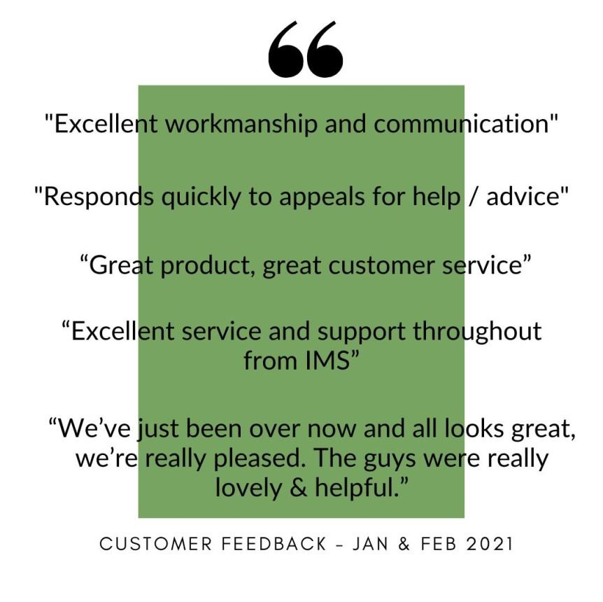 Customer Reviews - February 2021