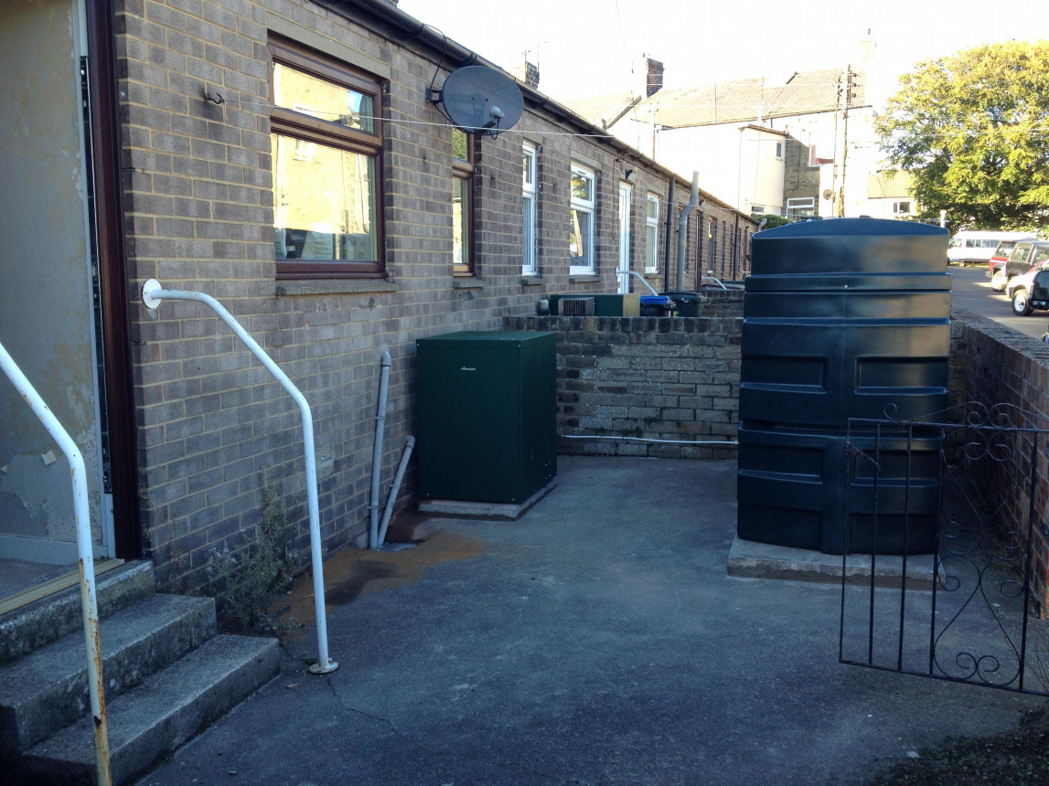 out door oil boiler and BUNDED oil tank