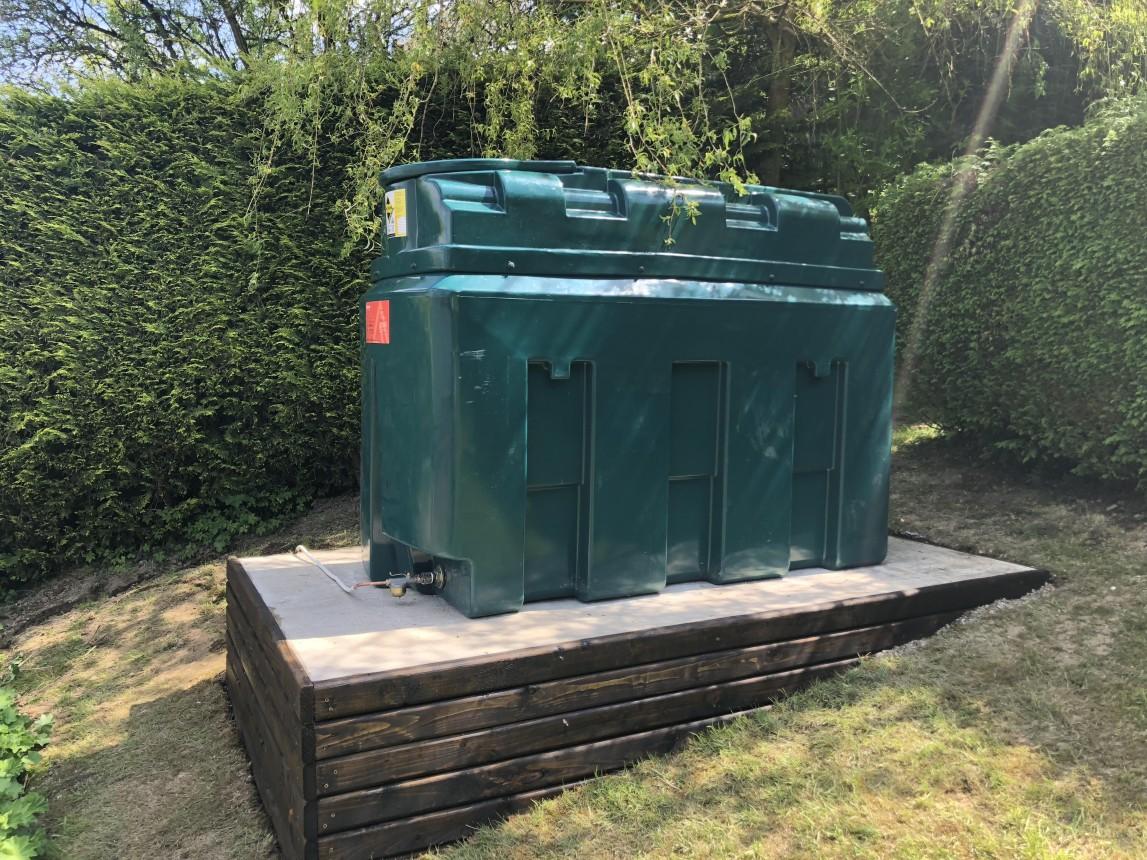 Oil tank install