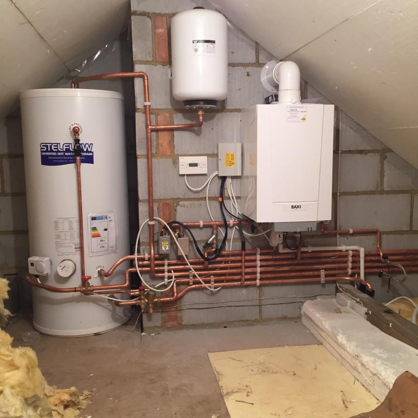Baxi boiler and sealed system