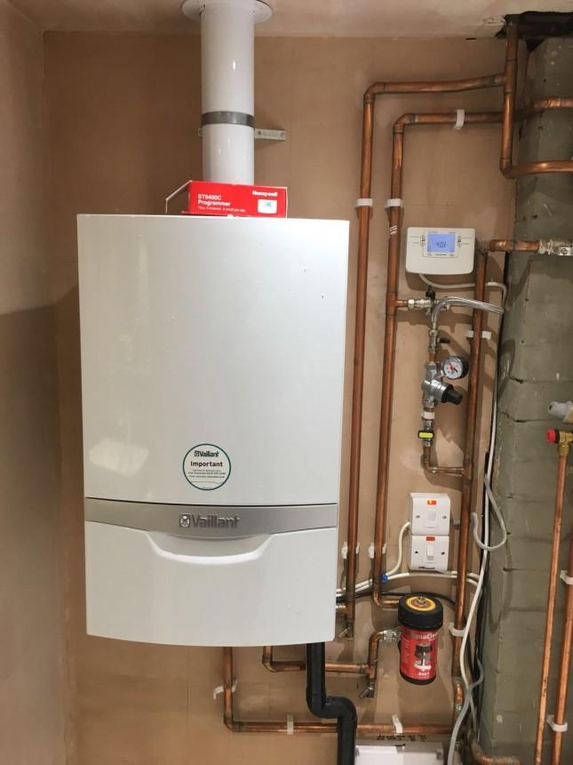 Vaillant system boiler install