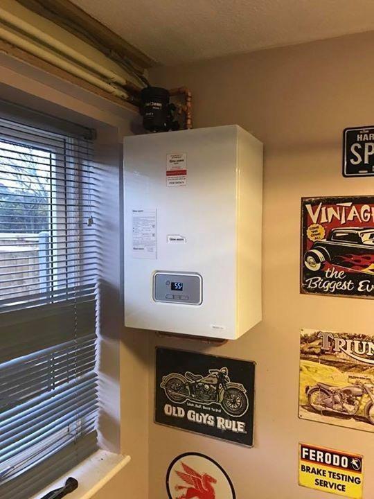 Boiler install kitchen