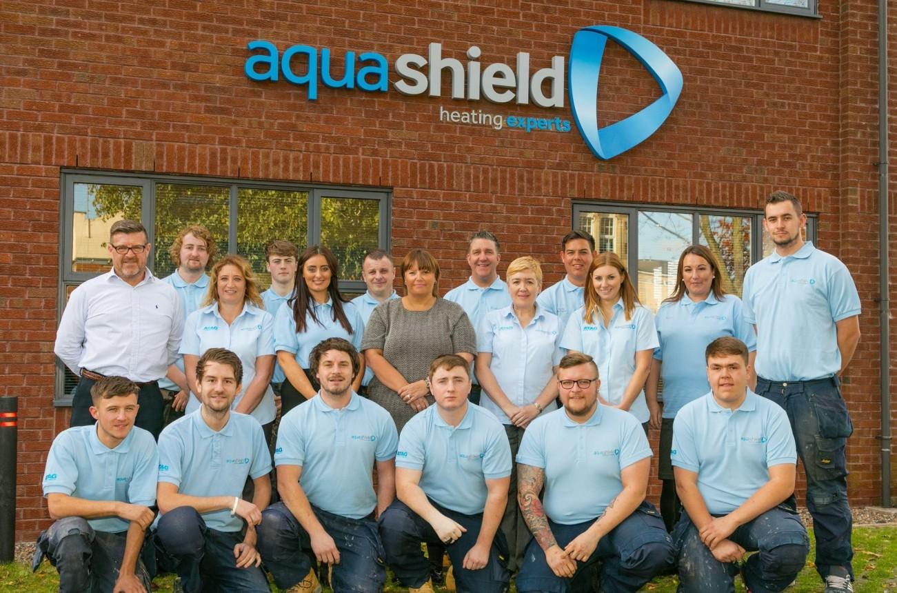 Meet the team. Boiler experts. #teamaquashield