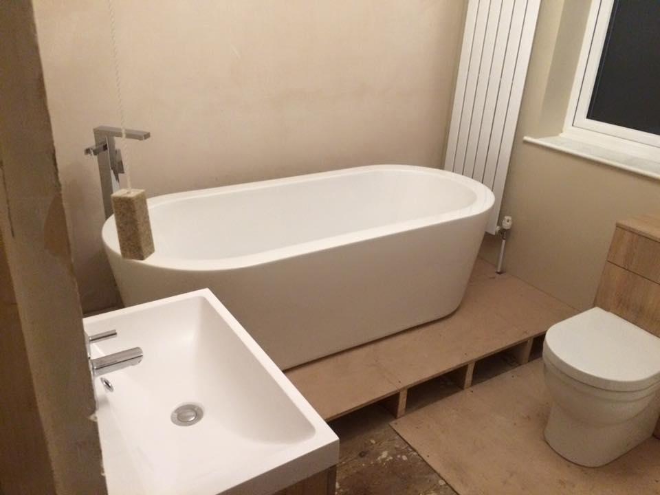bathroom 1st fix.