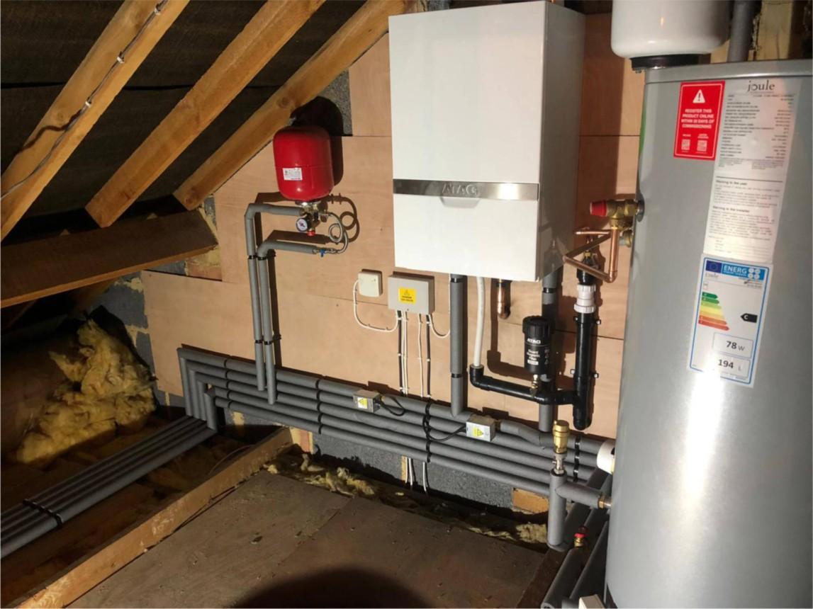 ATAG boiler in loft