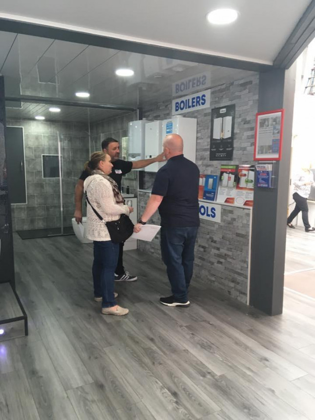 A typical showroom consultation
