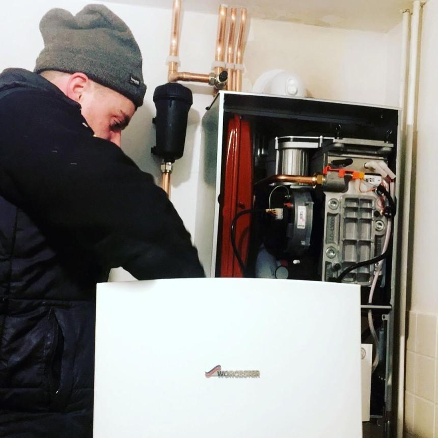 New Worcester boiler installation