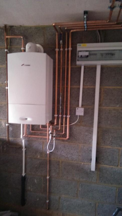 Worcester Bosch Garage Installation