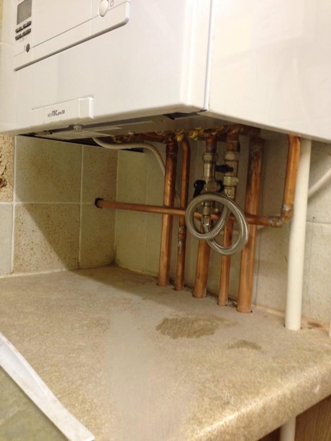 Vaillant ecotec boiler installed