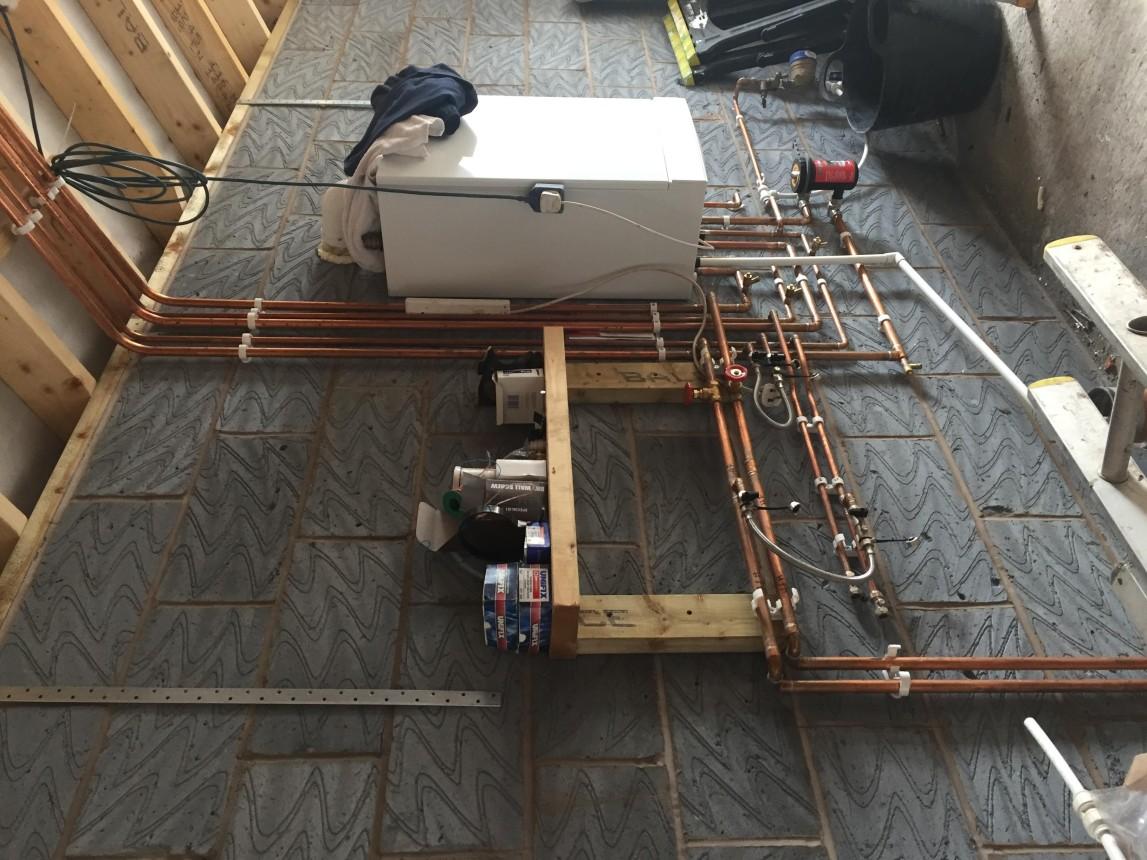 Boiler installation inc  under floor heating