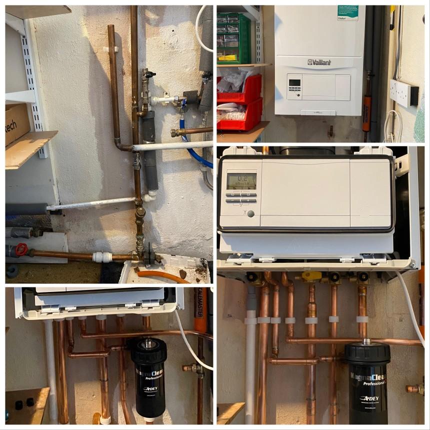 Recent boiler installation