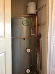 Unvented cylinder installation in Essex