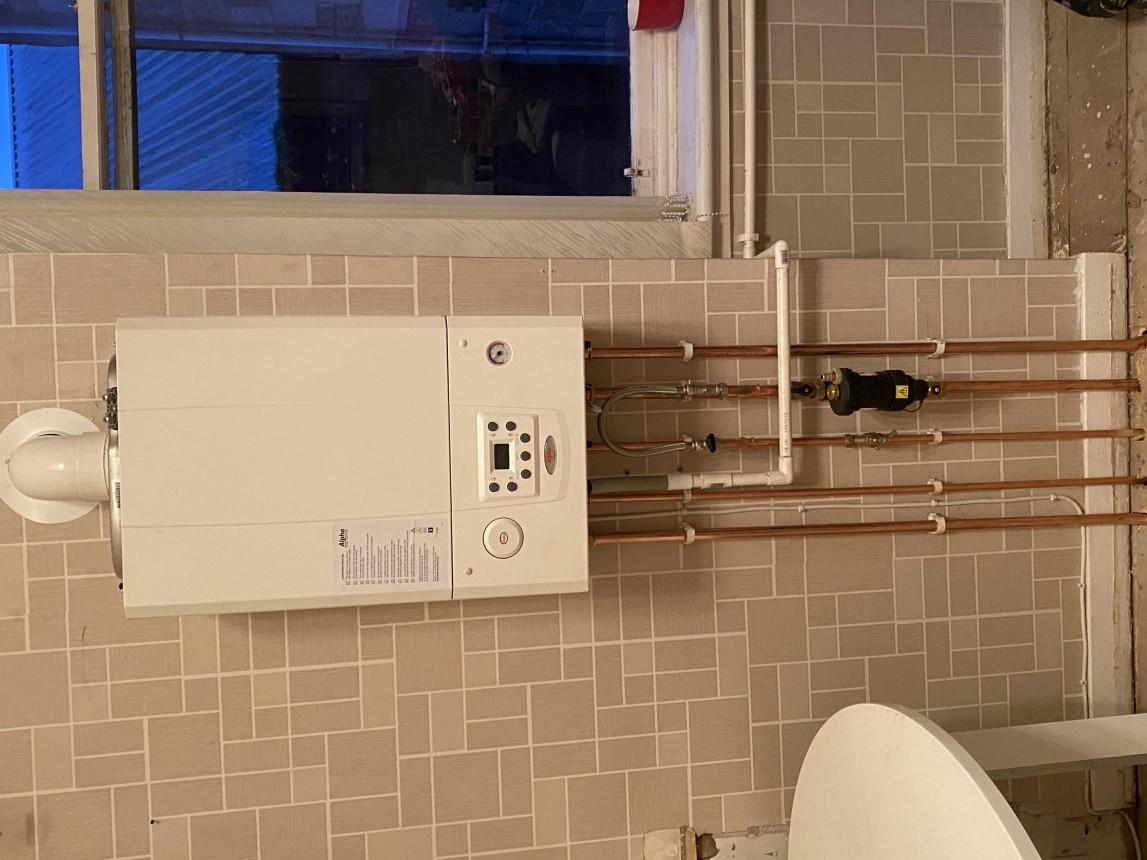 Back boiler to combi conversion