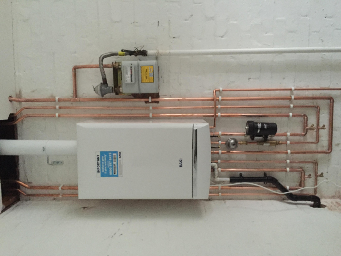 Unfinished boiler replacement and conversion