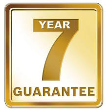 Now with 7 year warranty