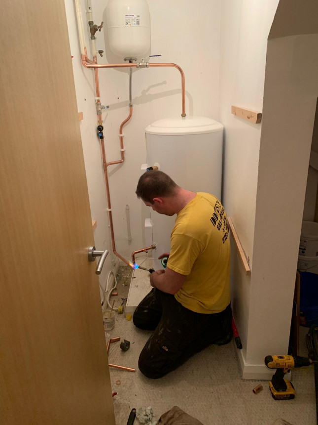 Hot water system in a posh pad in town