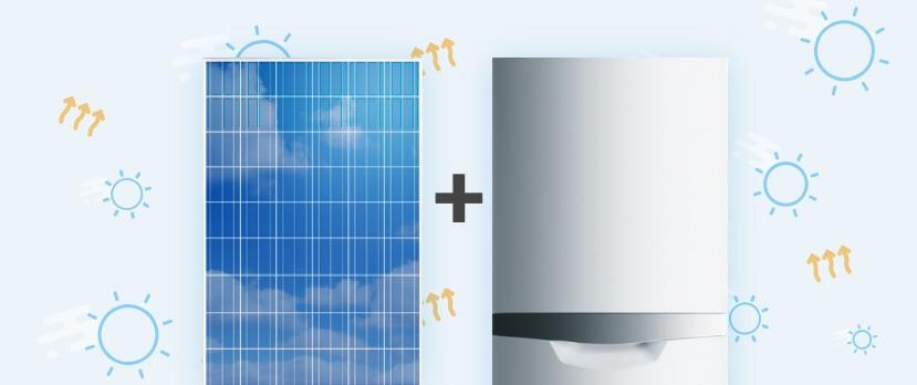 Solar Thermal Heating with a Boiler