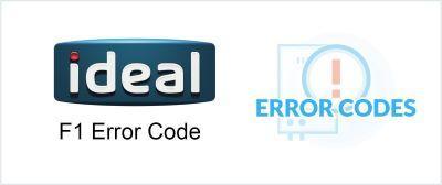 Ideal F1 Error / Fault Code Explained