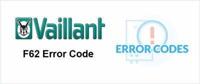 Vaillant F62 Error Code